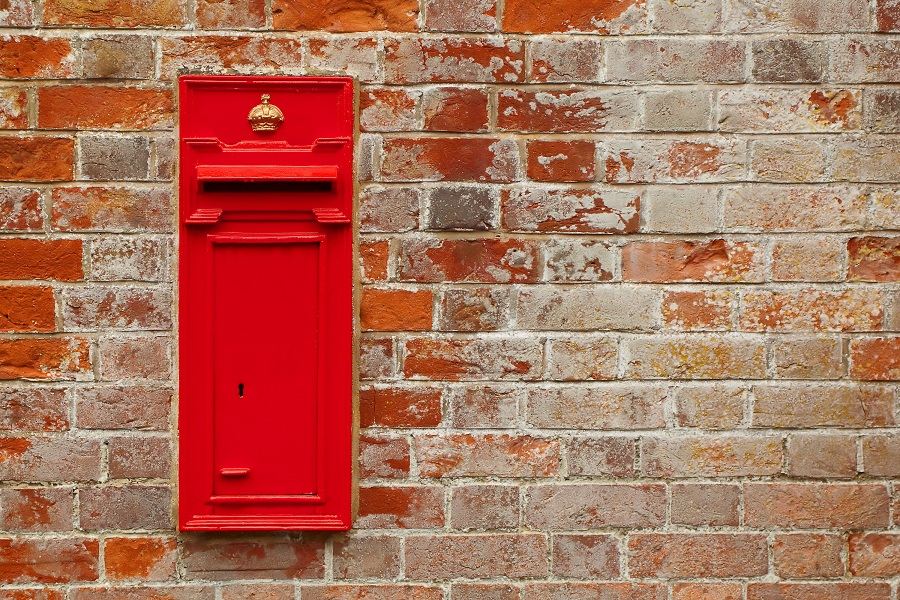 brick in letter box